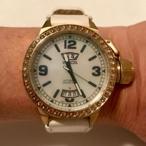 Invicta automatic watch with topaz